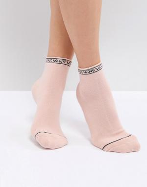 Vans Розовые носки с отделкой логотипом. Цвет: розовый