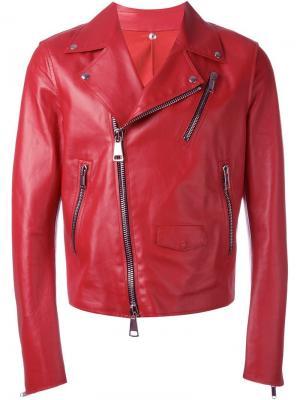 Байкерская куртка Costume National. Цвет: красный