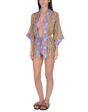 Пляжное платье BLUGIRL BLUMARINE BEACHWEAR. Цвет: охра