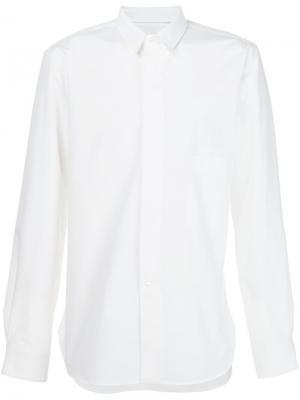 Рубашка с накладными карманами Lemaire. Цвет: белый