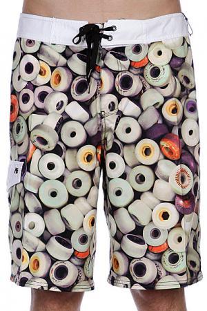 Пляжные мужские шорты  Urethane Brdshort Optic White Analog. Цвет: бежевый