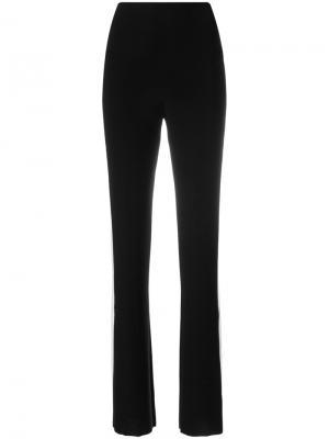 Расклешенные брюки с полоской по бокам Norma Kamali. Цвет: чёрный