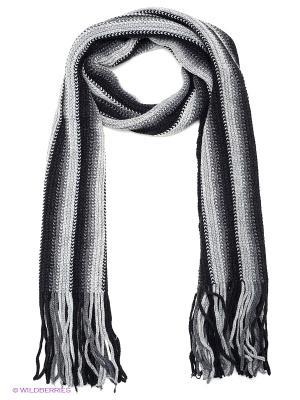 Шарф FOMAS. Цвет: черный, светло-серый