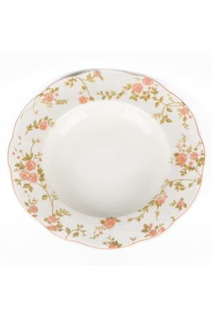 Суповая тарелка, 6 шт., 23 см Quality Cermaic. Цвет: бежевый, розовый