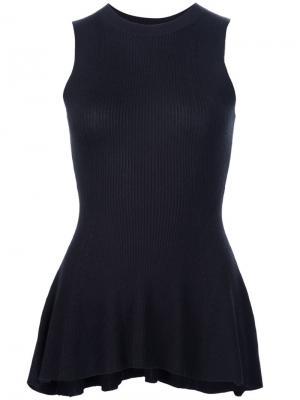 Блузка с баской Derek Lam. Цвет: чёрный