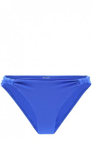 Плавки-бикини с драпировкой Lazul. Цвет: синий