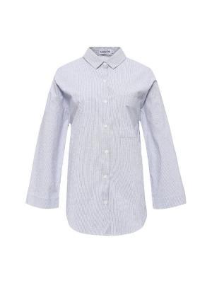Рубашка COCOS. Цвет: светло-голубой