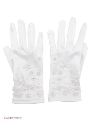 Перчатки Perlitta. Цвет: белый