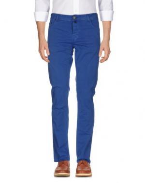 Повседневные брюки LUIGI BORRELLI NAPOLI. Цвет: пастельно-синий