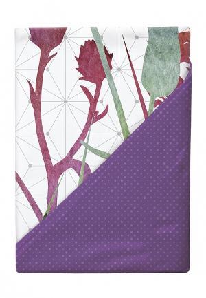 Комплект постельного белья Евро Verossa. Цвет: фиолетовый