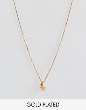 Dogeared Позолоченное ожерелье с подвеской. Цвет: золотой