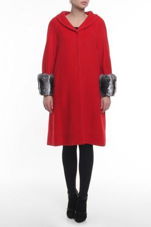Пальто Regalia. Цвет: красный