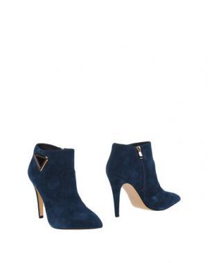 Полусапоги и высокие ботинки EMANUÉLLE VEE. Цвет: грифельно-синий