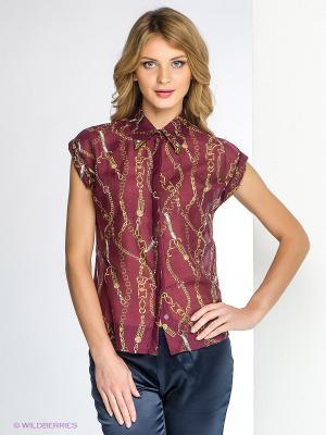 Блузка SUGARLIFE. Цвет: бордовый