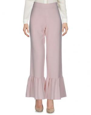 Повседневные брюки HUITDEGRÉS. Цвет: светло-розовый