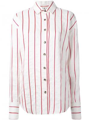 Полосатая рубашка A.W.A.K.E.. Цвет: белый