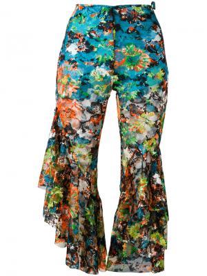 Укороченные расклешенные брюки Marquesalmeida Marques'almeida. Цвет: многоцветный
