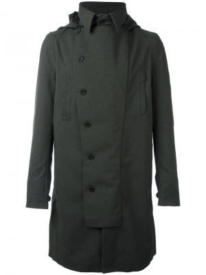 Двубортное пальто Norwegian Rain. Цвет: зелёный