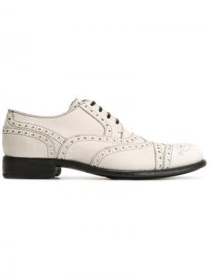 Классические броги Dolce & Gabbana. Цвет: белый