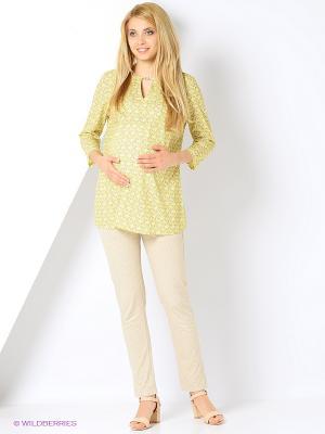 Блузка для беременных FEST. Цвет: желтый