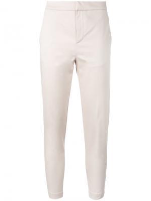 Укороченные брюки Eleventy. Цвет: телесный
