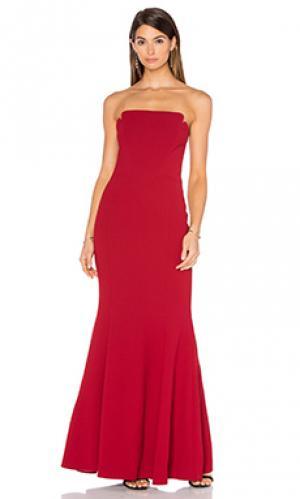 Вечернее платье strapless JILL STUART. Цвет: красный