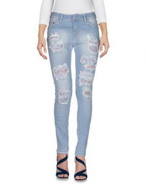 Джинсовые брюки CAROLINA WYSER. Цвет: синий