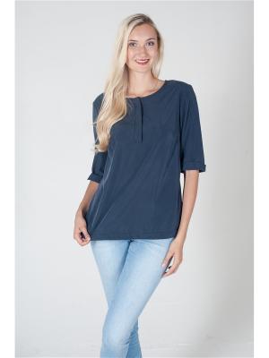 Блузка ОДЕКС-СТИЛЬ. Цвет: темно-синий