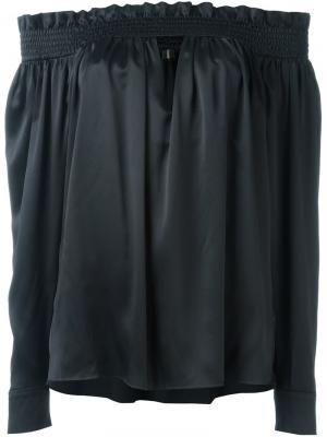 Блузка со спущенными плечами Alexandre Vauthier. Цвет: чёрный