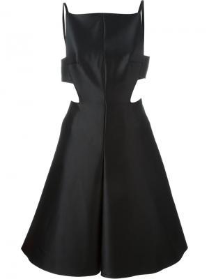 Расклешенное платье с вырезными деталями Solace. Цвет: чёрный