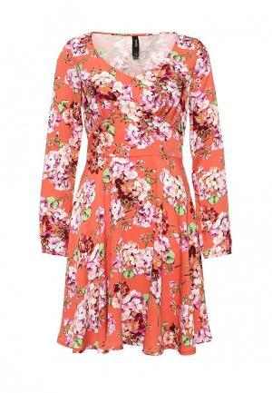 Платье Bestia. Цвет: коралловый