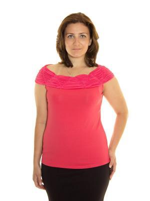 Блузка Vanrica Fashion. Цвет: коралловый