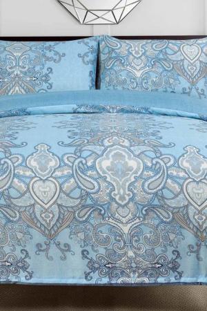Постельное белье Евро, 50x70 СIOCCOLATO. Цвет: голубой