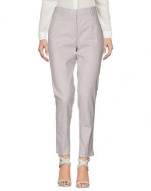 Повседневные брюки SCAGLIONE CITY. Цвет: голубиный серый