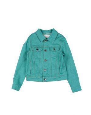 Джинсовая верхняя одежда MAURO GRIFONI KIDS. Цвет: зеленый