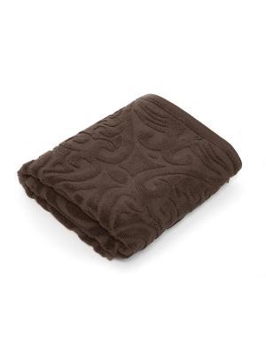 Полотенце для ванной 70х140 см Zelidzh brown WESS. Цвет: коричневый