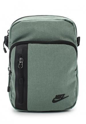 Сумка Nike. Цвет: зеленый