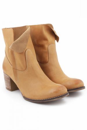 Ботинки ZAPATO. Цвет: бежевый
