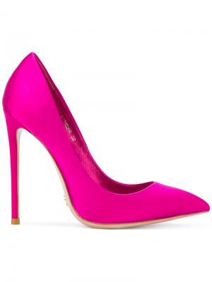 Туфли-лодочки с заостренным носком Gianni Renzi. Цвет: розовый и фиолетовый