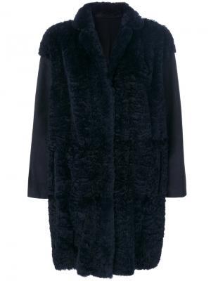 Midi overcoat Salvatore Santoro. Цвет: синий