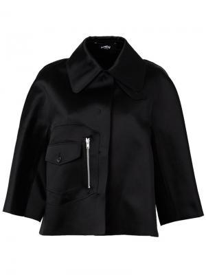 Укороченная куртка Yang Li. Цвет: чёрный