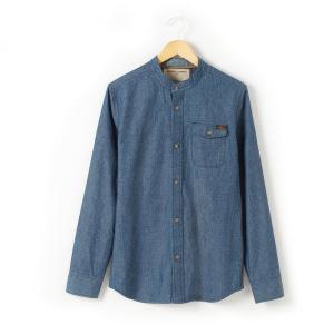 Рубашка без воротника R teens. Цвет: потертый шамбре