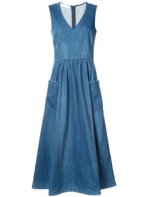 Расклешенное платье миди Co. Цвет: синий