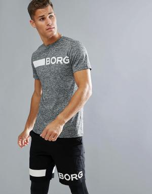 Bjorn Borg Серая футболка. Цвет: серый