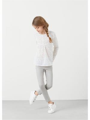 Блузка  - PANITAP Mango kids. Цвет: белый
