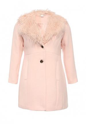 Пальто LOST INK CURVE. Цвет: розовый
