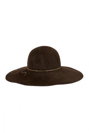 Фетровая шляпа Honey Eugenia Kim. Цвет: шоколадный