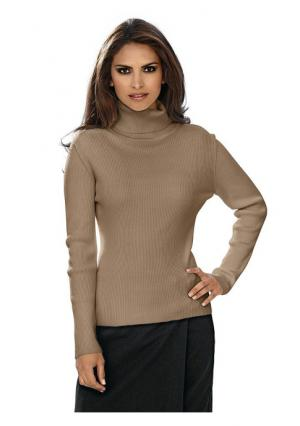 Пуловер Ashley Brooke. Цвет: молочно-белый, светло-коричневый, черный