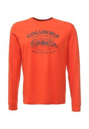 Лонгслив Columbia. Цвет: оранжевый