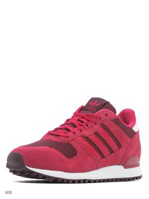 Кроссовки жен. ZX 700 W  UNIPNK/UNIPNK/MAROON Adidas. Цвет: малиновый, розовый